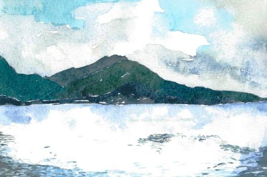 Fjiord near Bergen,by David Bousfield